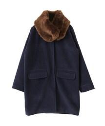 KBF「皮草披肩繭型大衣(Outerwear)」