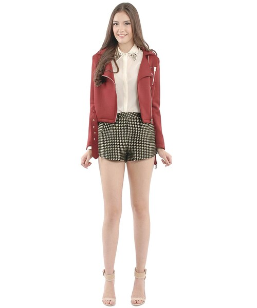 Her Velvet Vaseyve Tweed Shorts Wear