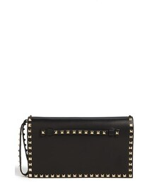 Valentino「Valentino 'Rockstud' Nappa Leather Flap Clutch(Clutch)」