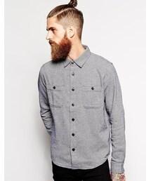 Edwin「Edwin Shirt Labor Herringbone 2 Pocket - Blue(Shirts)」