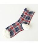 靴下屋 | 総チェック柄ショートソックス(ソックス・靴下)