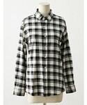 imvely | ダブルチェックコットンシャツ(シャツ・ブラウス)