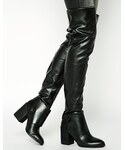 Aldo | ALDO Constancio Over the Knee Block Heel Boots - Black(Boots)