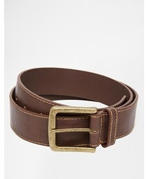 Asos「ASOS Jeans Belt with Stitch Detail - Brown(Belt)」