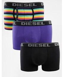 Diesel「Diesel Mixed Stripe 3 Pack Trunks - Multi(Boxer pants)」