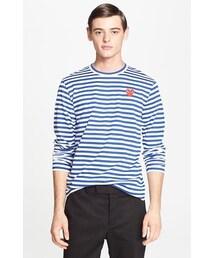 Comme des Garcons「Comme des Garçons 'Play' Long Sleeve Stripe Crewneck T-Shirt(T Shirts)」