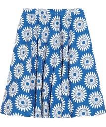 Alice + Olivia「Alice + Olivia Earla cotton-blend daisy-jacquard skirt(Skirt)」