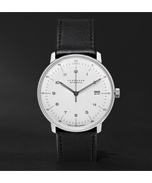 Junghans「Junghans Max Bill Stainless Steel and Leather Automatic Watch(Watch)」