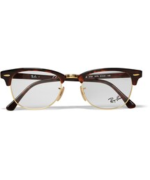 Ray-Ban「Ray-Ban Clubmaster Tortoiseshell Acetate And Metal Optical Glasses(Glasses)」
