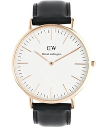 Daniel Wellington「Daniel Wellington Sheffield Rose Gold Black Leather Strap Watch - Black(Watch)」
