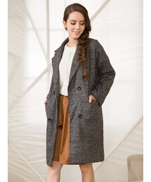 Shalexの「Shalex Double Breasted Coat In Check(その他アウター)」