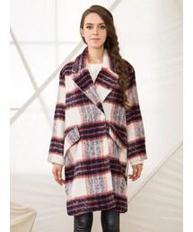 Shalexの「Shalex Brushed Check Woolen Coat(その他アウター)」