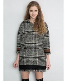 Shalexの「Tartan Wool Blend Tassel Dress(ワンピース)」