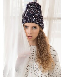 Shalexの「Chunky Cable Beanie - Blue(ニットキャップ・ビーニー)」