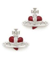 Vivienne Westwood「Vivienne Westwood Diamante Heart Earrings(Pierces (both ears))」