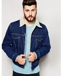 Levi's「Levis Vintage 1970s Sherpa Lined Trucker Rinse - Blue(Outerwear)」