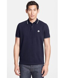 Moncler「Moncler Tipped Cotton Piqué Polo(Polo)」