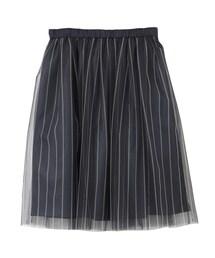 URBAN RESEARCH「直條紋紗裙(Skirts)」