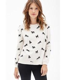Forever 21「FOREVER 21 Horse Silhouette Print Sweatshirt(Sweatshirt)」