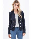 Forever 21「FOREVER 21 Button-Front Blazer(Tailored jacket)」