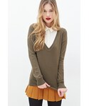 Forever 21 | FOREVER 21 Deep V-Neck Sweater(Knitwear)