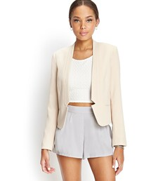 Forever 21「FOREVER 21 Collarless Notched Blazer(Tailored jacket)」