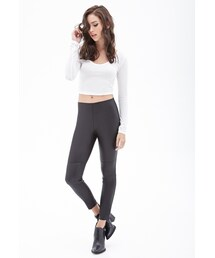 Forever 21「FOREVER 21 Coated Panel Leggings(Leggings)」