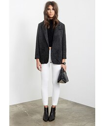 Forever 21「FOREVER 21 Open-Front Boyfriend Blazer(Tailored jacket)」