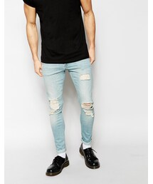 Asos「ASOS Extreme Super Skinny Jeans With Rips(Denim pants)」