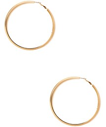 Forever 21「FOREVER 21 Street-Chic Etched Hoops(Pierces (both ears))」