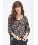 Forever 21「FOREVER 21 Floral Foliage Print Top(Shirts)」