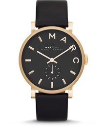 Marc by Marc Jacobs「MARC by Marc Jacobs Baker Analog Watch with Leather Strap, Golden/Black(Watch)」