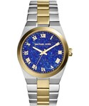 Michael Kors「Michael Kors  Mid-Size Channing Silver Color/Golden Stainless Steel Three-Hand Watch(Watch)」