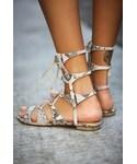Schutz | Schutz Lina Lace Up Sandal(Sandals)