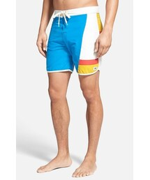 Lightning Bolt「LIGHTNING BOLT 'Seagull' Scalloped Hem Colorblock Board Shorts(Swimwear)」
