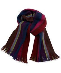 Paul Smith「Paul Smith Reversible Striped Men's Scarf, Red Multi(Gloves)」
