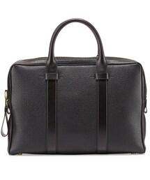 Tom Ford「Tom Ford Buckley Leather Briefcase, Black(Briefcase)」