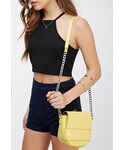 Forever 21「FOREVER 21 Faux Leather Flaptop Crossbody(Shoulderbag)」