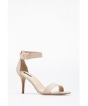 Forever 21「FOREVER 21 Faux Suede Ankle-Strap Heels(Sandals)」