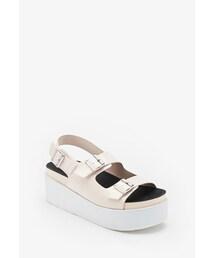 Forever 21「FOREVER 21 Buckled Flatform Sandals(Sandals)」