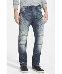 PRPS「PRPS 'Demon - Luna' Slim Straight Leg Moto Jeans (Indigo)(Denim pants)」