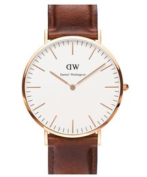 Daniel Wellington「Daniel Wellington 'Classic St. Mawes' Leather Strap Watch, 40mm(Watch)」