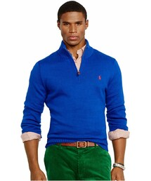 Polo Ralph Lauren「Polo Ralph Lauren High-Twist Cotton Half-Zip Mockneck Sweater(Knitwear)」