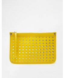 Love Moschino「Love Moschino Cut Out Heart Clutch Bag in Yellow(Clutch)」