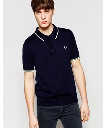 Fred Perry「Fred Perry Knitted Polo Shirt with Tipping(Polo)」