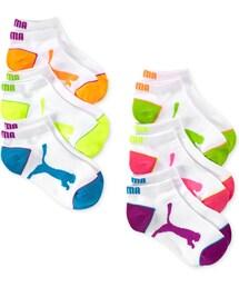 Puma「Puma Girls' or Little Girls' 6-Pack No-Show Socks(Socks)」