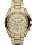 Michael Kors「Michael Kors  Mid-Size Bradshaw Chronograph Watch, Golden(Watch)」