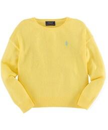 Ralph Lauren(ラルフ ローレン)の「Ralph Lauren Childrenswear Long-Sleeve Fine-Gauge Sweater, Yellow, Size 2T-6X(ニット・セーター)」