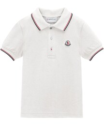 Moncler「Moncler Tipped Pique-Knit Cotton Polo, Size 2-6(Polo)」