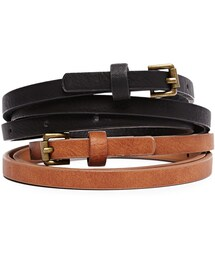 Forever 21「FOREVER 21+ Roller Buckle Faux Leather Belt(Belt)」